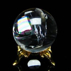 虹入りヒマラヤ水晶丸玉28mm
