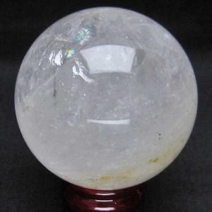 虹入り 緑トルマリン 丸玉 80mm  パワーストーン 天然石 t296-1271|seian