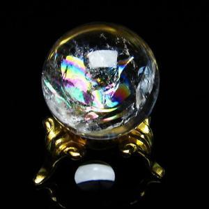 虹入り ヒマラヤ水晶 丸玉 24mm  t317-3020|seian