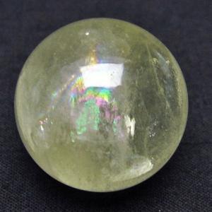 虹入り シトリン水晶 丸玉 25mm  t318-3365|seian