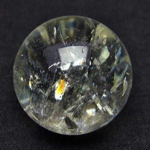 虹入り シトリン水晶 丸玉 25mm  パワーストーン 天然石 t318-3378|seian