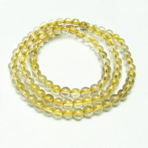 ゴールドタイチンルチル 3重 ブレスレット  ネックレス 兼用可6mm t320-2484|seian