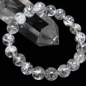 クラック水晶 ブレスレット 10mm  t33-8473|seian