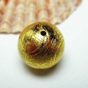 ゴールドギベオン メテオライト 粒売12mm  パワーストーン 天然石 t352-1391|seian