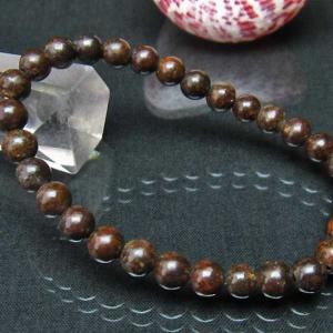 コンドライト「サハラNWA869隕石」 ブレスレット 6mm  t352-1503|seian