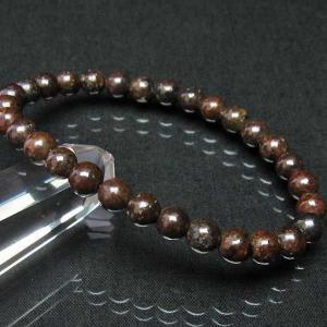 コンドライト「サハラNWA869隕石」 ブレスレット 6mm  t352-1505|seian