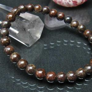 コンドライト「サハラNWA869隕石」 ブレスレット 6mm  t352-1506|seian