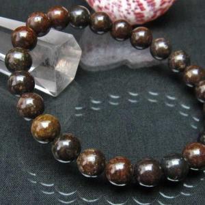 コンドライト「サハラNWA869隕石」 ブレスレット 8mm  t352-1509|seian