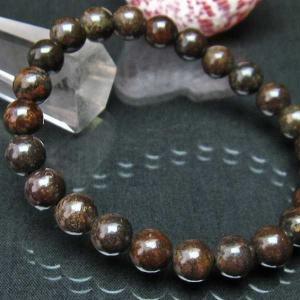 コンドライト「サハラNWA869隕石」 ブレスレット 8mm  t352-1511|seian