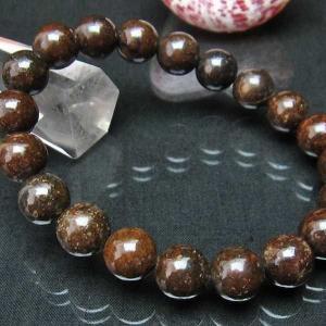 コンドライト「サハラNWA869隕石」 ブレスレット 10mm  t352-1520|seian