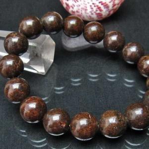 コンドライト「サハラNWA869隕石」 ブレスレット 12mm  t352-1522|seian