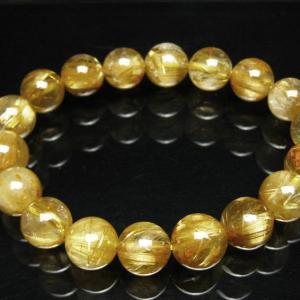 ゴールドタイチンルチル ブレスレット 11mm t36-5197|seian