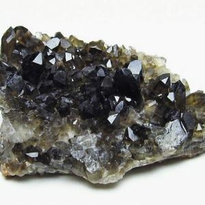 アーカンソー産  モリオン 純天然 黒水晶 クラスター t386-6540|seian
