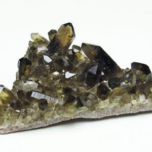 アーカンソー産  モリオン 純天然 黒水晶 クラスター t386-6541|seian
