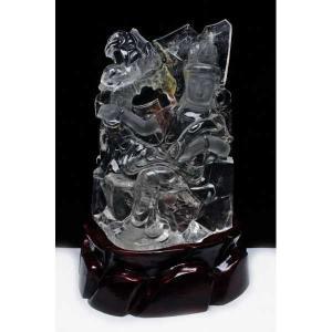 4.4Kg ヒマラヤ水晶観音 置物 t42-388|seian