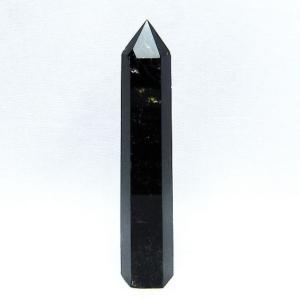 モリオン 原石 本物  純天然 黒水晶  六角柱 t43-5673|seian