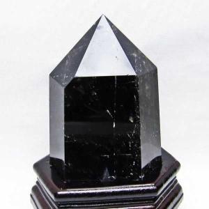 モリオン 原石 本物  天然 黒水晶  六角柱 1.1Kg t43-5690|seian