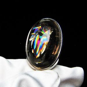虹入りライトニング水晶ペンダント