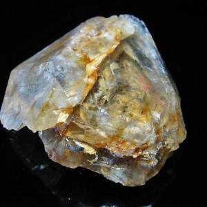 水入り スティブナイト(輝安鉱)入り  | ハーキマーダイヤモンド水晶 原石 T443-3553