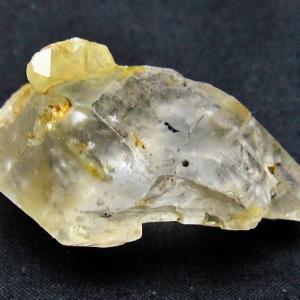 水入り スティブナイト(輝安鉱)入り  | ハーキマーダイヤモンド水晶 原石 T443-3837