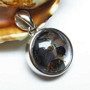パラサイト隕石 かんらん石  ペンダント  パワーストーン 天然石 t453-2257|seian