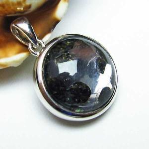 パラサイト隕石 かんらん石  ペンダント  パワーストーン 天然石 t453-2281|seian