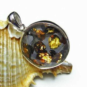 パラサイト隕石 かんらん石  大衛星 ペンダント  パワーストーン 天然石 t453-2344|seian