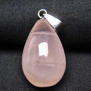 ローズクォーツ 水滴形  ペンダント  パワーストーン 天然石 t467-3457 seian