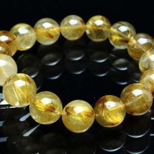 ゴールドタイチンルチル ブレスレット 13 mm t473-3809 seian