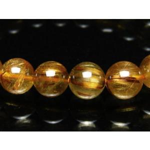 ゴールドタイチンルチル ブレスレット 8mm  t473-3838|seian|04