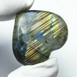 ラブラドライトハート 置物 パワーストーン 天然石 t499-1245|seian
