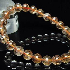 ルチルクォーツ(金針ルチル水晶) ブレスレット 7mm  t50-5432|seian
