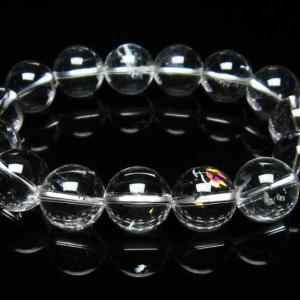 アイリスクォーツ 虹入り  レインボー水晶  ブレスレット 15mm  t502-6038|seian