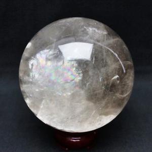 虹入り ライトニング水晶 丸玉 89mm  t529-4673|seian