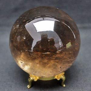 虹入り ライトニング水晶 丸玉 74mm  パワーストーン 天然石 t529-4702 seian
