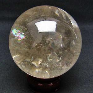 虹入り ライトニング水晶 丸玉 75mm  t529-4759|seian