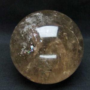 1.4Kg 虹入り ライトニング水晶 丸玉 102mm  パワーストーン 天然石 t529-5115 seian