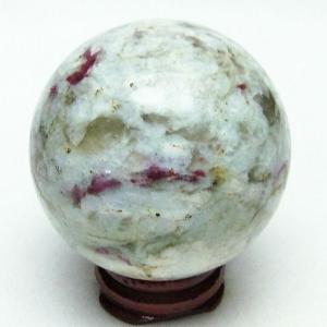 ピンクトルマリン 丸玉 53mm  パワーストーン 天然石 t540-1487|seian