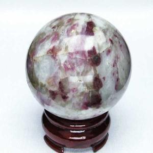 ピンクトルマリン 丸玉 60mm  パワーストーン 天然石 t540-1772|seian