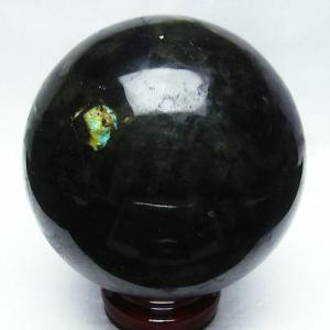 2.4Kg ラブラドライト 丸玉 118mm  パワーストーン 天然石 t571-2113 seian