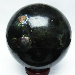 2.9Kg ラブラドライト 丸玉 128mm  パワーストーン 天然石 t571-2116 seian