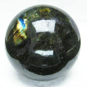 1.4Kg ラブラドライト 丸玉 97mm  パワーストーン 天然石 t571-2960 seian