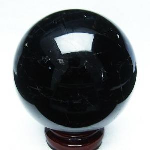 1.6Kg モリオン 純天然 黒水晶  丸玉 107mm t572-6802|seian