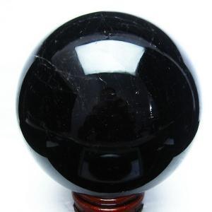 10.9Kg 黒水晶 丸玉 197mm T572-6998 あすつく