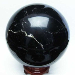 水晶玉 置物 モリオン 天然 本物 黒水晶  丸玉 150mm  4.4Kg t572-7252 seian