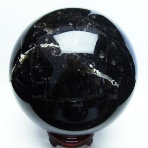モリオン 原石 本物  水晶玉 天然 本物 黒水晶  丸玉 168mm  6.2Kg パワーストーン 天然石 t572-7259 seian