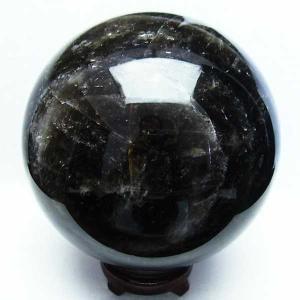 7.4Kg モリオン 純天然 黒水晶  丸玉 177mm  t572-7266|seian