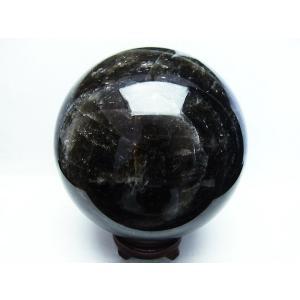 7.4Kg モリオン 純天然 黒水晶  丸玉 177mm  t572-7266|seian|02