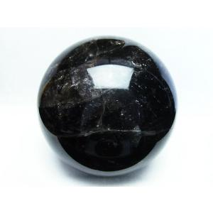 7.4Kg モリオン 純天然 黒水晶  丸玉 177mm  t572-7266|seian|03