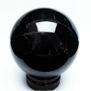 1.3Kg モリオン 純天然 黒水晶  丸玉 98mm  t572-8518|seian